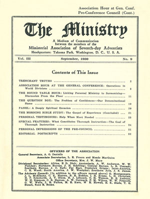 September 1930 cover image