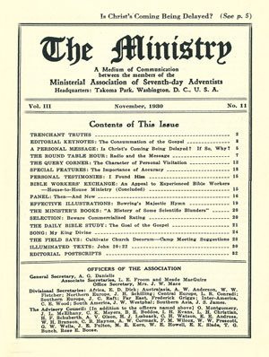 November 1930 cover image