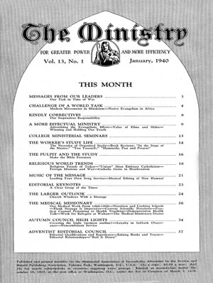 January 1940 cover image