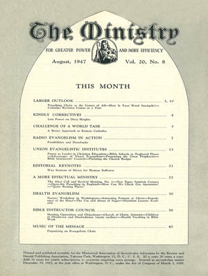 August 1947 cover image