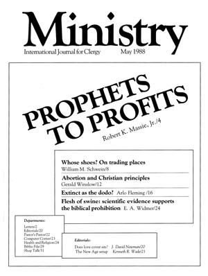 Flesh of swine - Ministry Magazine